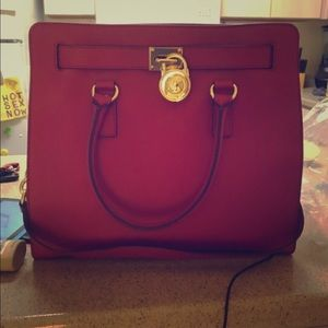 Michael kors large red purse